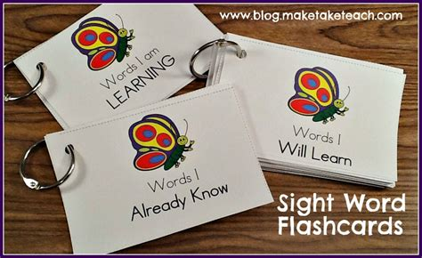 how to make index cards in word 2013 teaching sight words make take teach