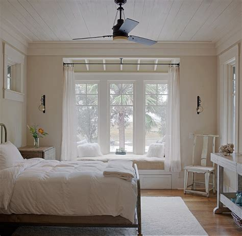 bedroom window seat rustic cottage with neutral interiors home bunch