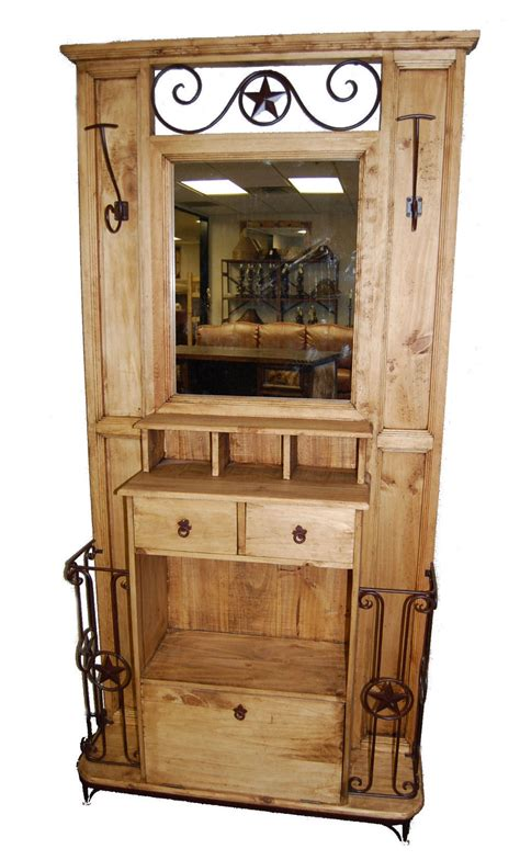 hall tree w mirror great western furniture company