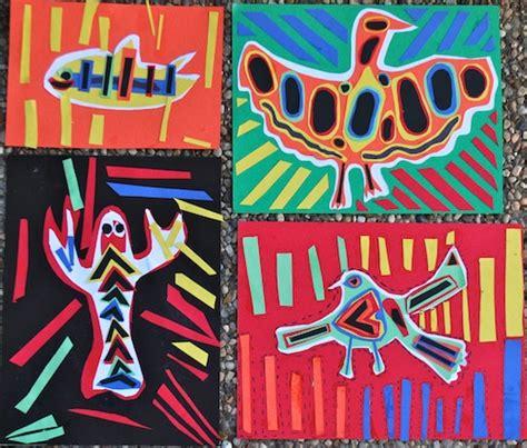 south american crafts for create a mola folk from panama