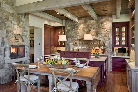 Shaker Dining Room Chairs 30 inventive kitchens with stone walls
