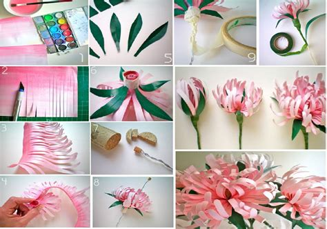 craft ideas for paper flowers diy paper flowers goodiy