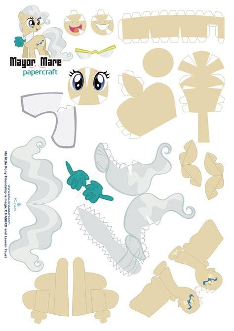 pattern paper craft mayor mare papercraft pattern by kna on deviantart