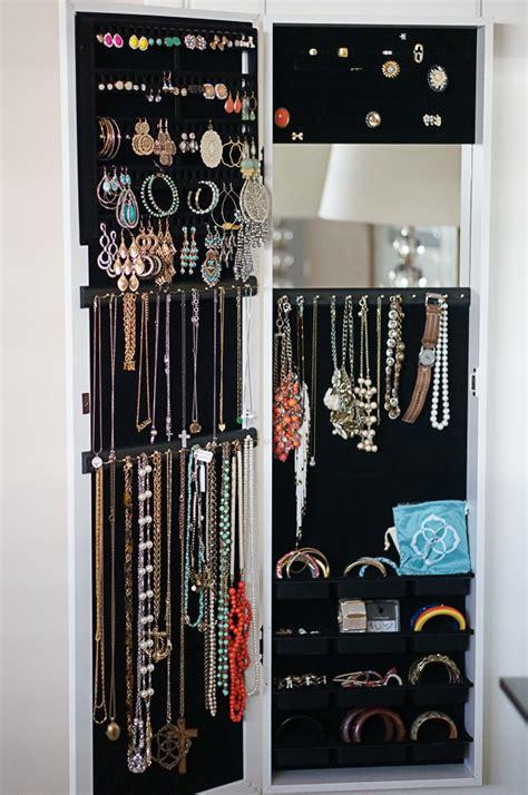 jewelry organizer hanging jewelry organizer with mirror jewelry ideas