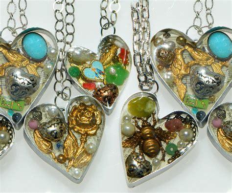 how to make bezel jewelry handmade bezel resin hearts
