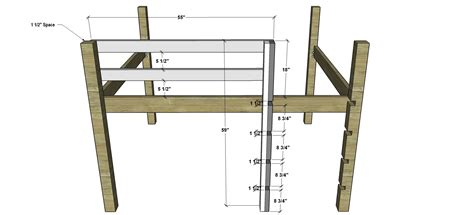 how to build a loft bunk bed free diy furniture plans how to build a sized low