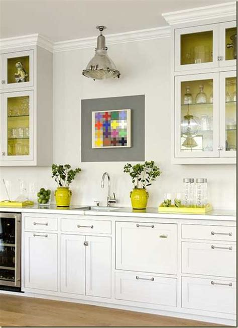 accent color for white and gray kitchen yellow color accents jazz up gray kitchen