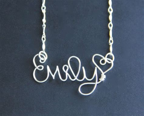how to make wire name jewelry custom name necklace personalized wire word on luulla