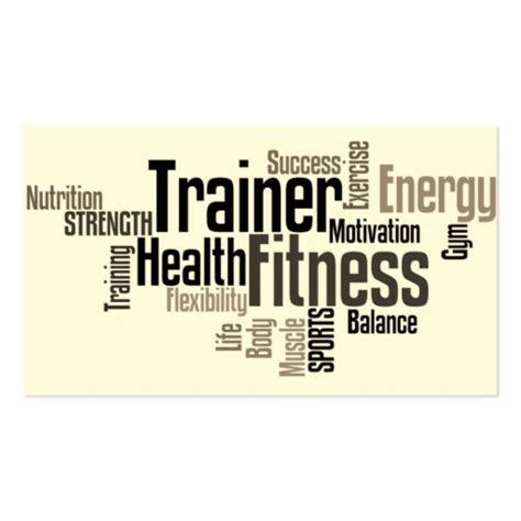 make your trainer card create your own fitness trainer business cards