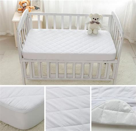 baby crib mattress cover washable bed bug white quilted baby waterproof single crib