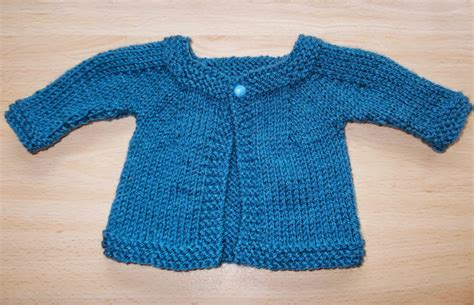 all in one knitted baby jacket marianna s lazy days denim blue baby cardigan