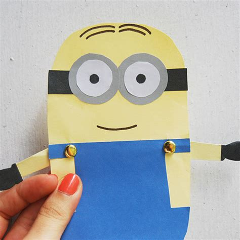 construction paper crafts for boys minion paper doll family crafts