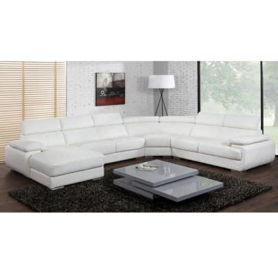 canap 233 panoramique 7 places en cuir elevanto achat vente canap 233 sofa divan cdiscount