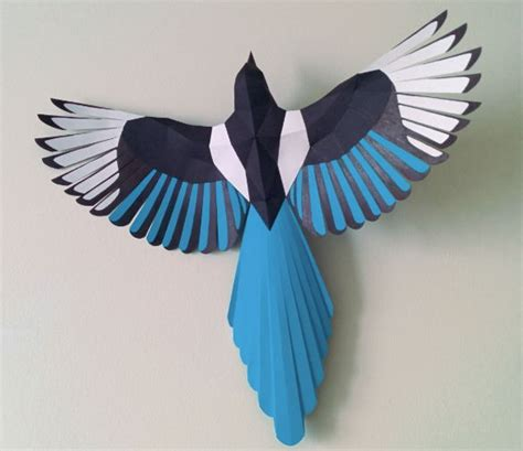 new paper crafts new paper craft animal paper model magpie free bird