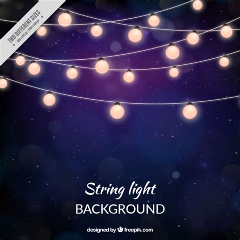 glowing starry string lights background of string lights vector free