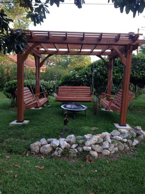 pergola with pit fabulous pergola with swing and pit garden landscape