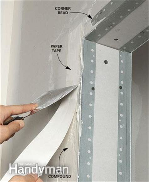 how to install drywall corner bead drywall taping tips the family handyman