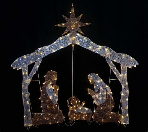 lighted sets outdoor lighted nativity sets for sale outdoorlightingss