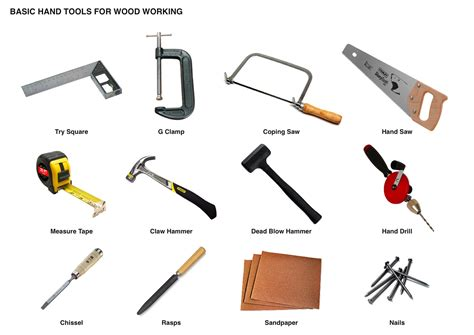 woodwork tools list with pictures woodwork tools pdf plans