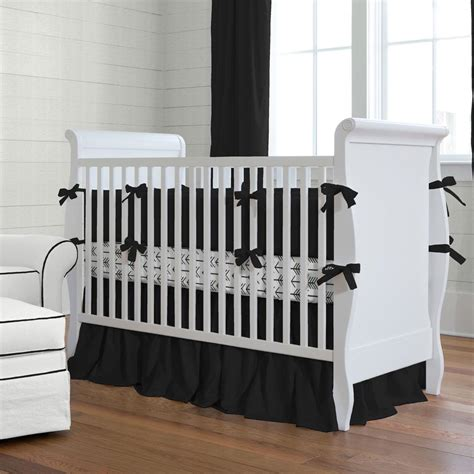baby cribs black solid black baby crib bedding collection carousel designs