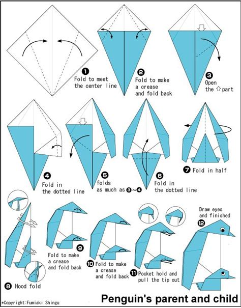 origami print out penguin gif 567 215 724 origami