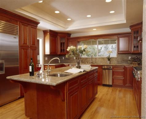 cherry kitchen cabinets with granite countertops decorating with cherry wood kitchen cabinets my kitchen