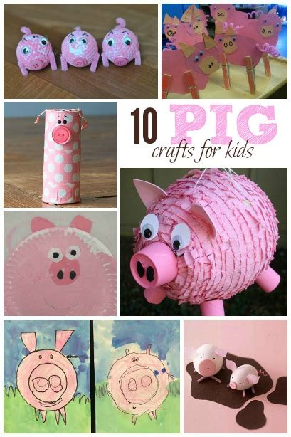 craft kid pig crafts for housing a forest