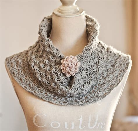 cowl pattern crochet lace cowl by monpetitviolon craftsy