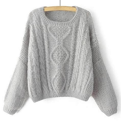 knit sweater womens stylish s neck cable knit sleeve sweater