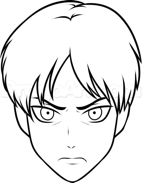easy drawing how to draw eren easy step by step anime characters