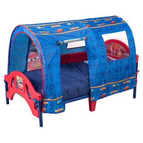 bed with tent delta children disney pixar cars tent toddler canopy bed