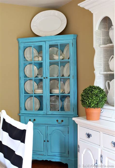 chalk paint colors diy before and after furniture makeover in turquoise