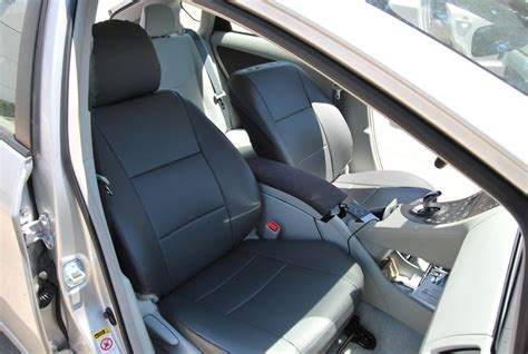 prius leather seat covers toyota prius 2007 2010 leather like custom seat cover ebay