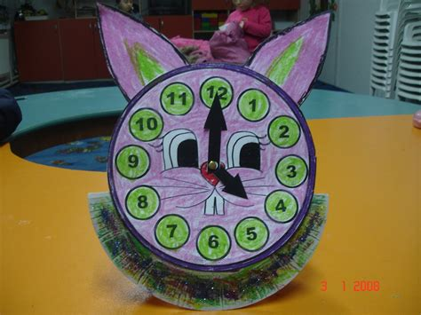 clock crafts for crafts actvities and worksheets for preschool toddler and