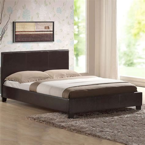 leather bed leather bed king black brown white with memory foam