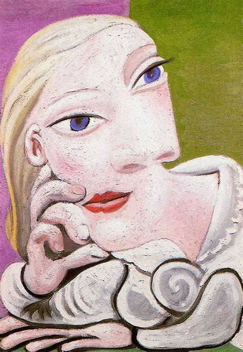picasso paintings of therese therese leaning pablo picasso wikiart