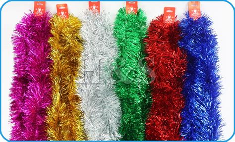 tinsel strands tree 5x 2 15m deluxe chunky tinsel tree decoration