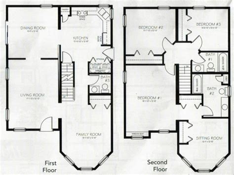 2 bedroom house floor plans 4 bedroom 2 story house plans 2 story master bedroom two