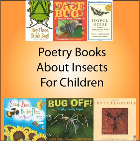 poetry picture books for children poetry books for insects and spiders theme science
