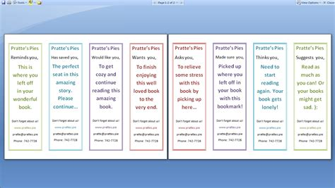 how to make sided business cards in publisher bookmark template word wordscrawl