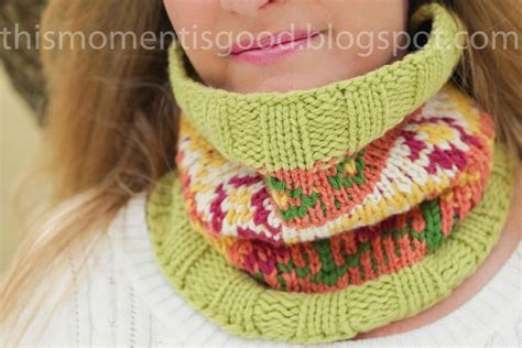 cowl loom knitting pattern loom knitting by this moment is loom knit fair isle