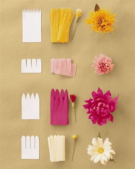 flowers from paper craft tissue paper flower craft ideas