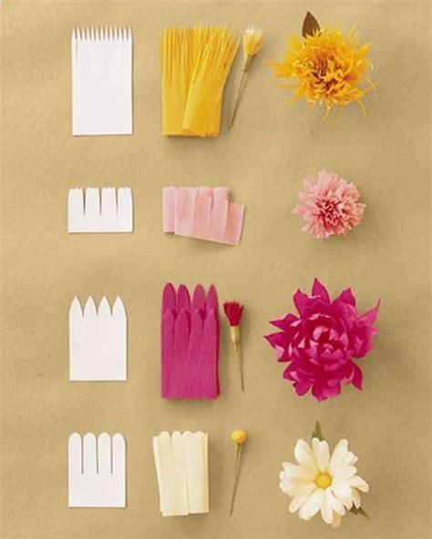 craft ideas for paper flowers tissue paper flower craft ideas