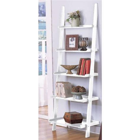 leaning ladder shelves white decorative bookshelves or bookcases