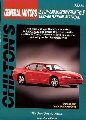 free car repair manuals 1997 pontiac grand am free book repair manuals 1997 2000 buick chevy olds pontiac mid size chilton s total car care manual