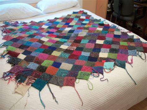 knit quilt patterns turkey tracks scrappy knitted blanket update louisa