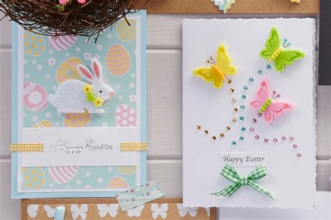 how to make a easter card 4 easy easter cards to make hobbycraft