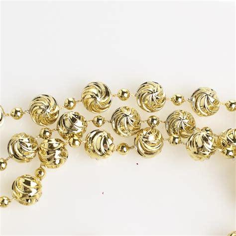 gold bead garland 10mm metallic gold swirl bead garland 9