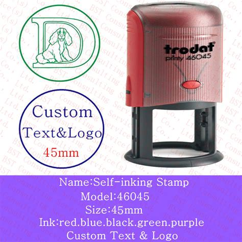 rubber self inking sts free shipping custom logo sts self inking st
