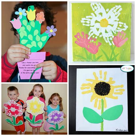ideas for children handprint flower craft ideas for crafty morning